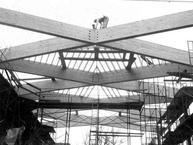 constructing the church roof